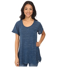Woolrich Fork In The Road Tunic Tee Atlantic Women's T Shirt Blue