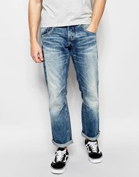 Jack And Jones Jack And Jones Authentic Wash Jeans In Loose Fit Mid Blue