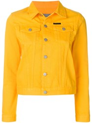 Calvin Klein Jeans Classic Denim Jacket Yellow And Orange