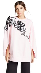 Michaela Buerger Flowers Sweatshirt Light Pink