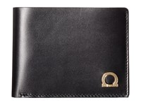 Salvatore Ferragamo Gancio One Wallet 660243 Nero Dark Rain Bi Fold Wallet Black