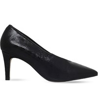 Carvela Autobann Reptile Print Leather Courts Black