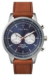 Men's Triwa 'Nevil' Chronograph Leather Strap Watch 42Mm