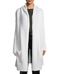 Sablyn Collete Hooded Open Front Long Cardigan White