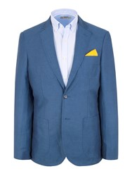 Gibson N Atextured Button Blazer Blue