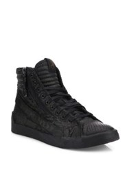 Diesel D Velows Denim High Top Sneakers Black