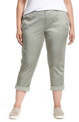 Liverpool Plus Size Women's Jeans Company Stretch Cotton Blend Pants Faded Seagrass