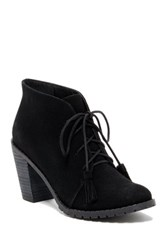Restricted Park View Heeled Oxford Bootie Black
