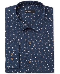 Bar Iii Men's Slim Fit Midnight Floral Dress Shirt Only At Macy's