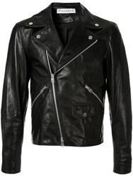 J.W.Anderson Jw Anderson Gilbert And George Leather Biker Jacket Black