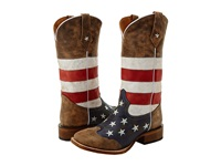Roper American Flag Square Toe Boot Brown Cowboy Boots
