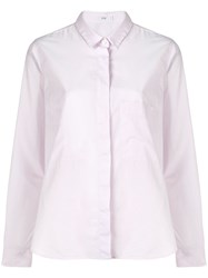 Closed Concealed Fastening Shirt Pink