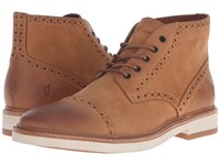 Frye Joel Brogue Chukka Nutmeg Soft Nubuck Men's Shoes Brown