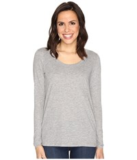 Alternative Apparel The Charmer Satin Jersey Top Heather Grey Women's Long Sleeve Pullover Gray