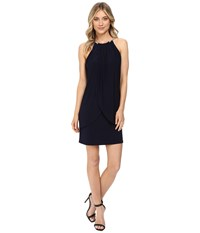 Jessica Simpson Ity Dress With Embellished Halter Necklace Sapphire Women's Dress Blue