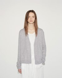 Organic By John Patrick Essential Cardigan Grey Marl