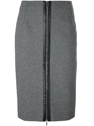 Thierry Mugler Pencil Skirt Grey