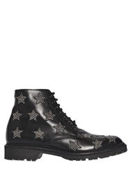 Saint Laurent 20Mm Army Calf Studded Stars Boots Black