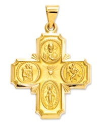 Macy's 14K Gold Charm Four Way Medal