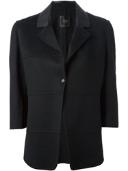 Agnona Cropped Sleeve Blazer Black