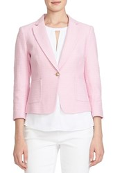 Women's Cece By Cynthia Steffe Basket Weave One Button Blazer