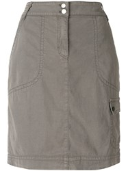 Marc Cain Straight Fit Skirt Grey