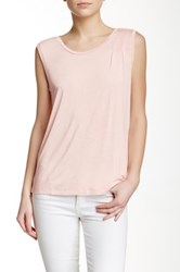 J.Crew Factory Shoulder Pleat Tank Pink