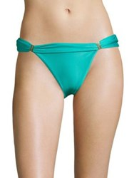 Vix By Paula Hermanny Bia Solid Tube Bikini Bottom Aqua