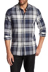 Peter Werth Cranfield Plaid Trim Fit Shirt Gray