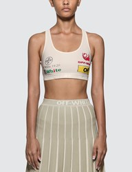 Off White Multilogo Sporty Bra White