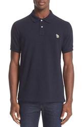 Paul Smith Men's Ps Zebra Patch Polo Navy