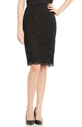 Vince Camuto Women's Lace Pencil Skirt Rich Black