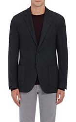 Barneys New York Men's Pique Two Button Sportcoat Dark Green