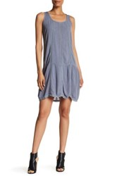 Allen Allen Lace Seam Gauze Dress Gray
