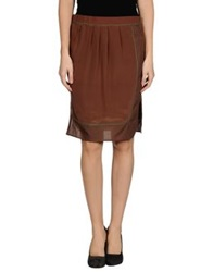 Soho De Luxe Knee Length Skirts Cocoa