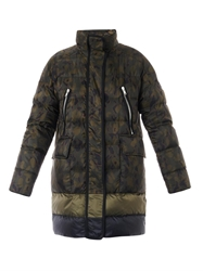 Moncler Gamme Rouge Camo Print Down Coat