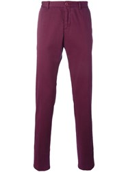 Etro Straight Pants Red