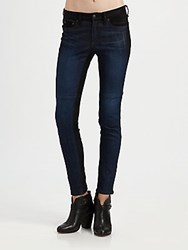 Rag And Bone Jekyll Leather Skinny Jeans Essex Blue