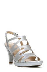Naturalizer Women's 'Pressley' Slingback Platform Sandal Silver Leather