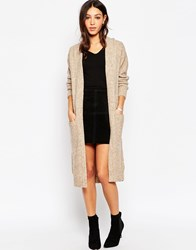 Minimum Maxi Cardigan With Front Pockets 043Sand