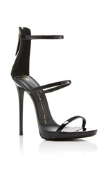 Giuseppe Zanotti Coline Patent Leather Sandals Black