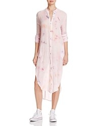 Free People Happiest Morning Button Down Tunic Blush