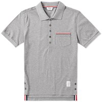 Thom Browne Mercerised Pique Pocket Polo Grey