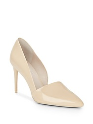 Kenneth Cole Pia Patent Leather Cutaway Pumps Bone