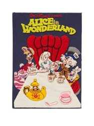 Olympia Le Tan Walt Disney's Alice In Wonderland Book Clutch Blue Multi