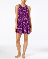 Alfani Floral Print Chemise Only At Macy's Field Floral Purple