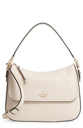 Kate Spade New York Jackson Street Colette Leather Satchel Ivory Bleach Bone