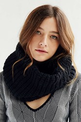 Urban Outfitters Cozy Lined Funnel Scarf Black