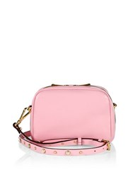 Imnyc Isaac Mizrahi Leather Crossbody Shoulder Bag Ballet Pink