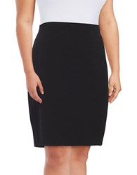 Vince Camuto Plus Pull On Stretch Pencil Skirt Rich Black